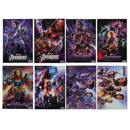 TURNTABLE LAB 8 Pcs/Set Marvels the Avengers Movie Poster Wall Decor Thor, Spiderman,Black Panther,Captain America,Hulk,Starlord (Avengers Decor)