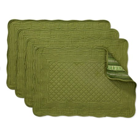 Better homes and gardens reversible quilted placemats set Better homes and gardens channel 7
