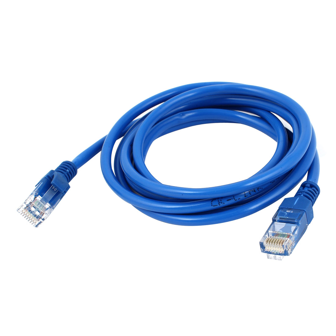 Unique Bargains 1.7M 5.5Ft CAT5e CAT5 RJ45 Male Connector Ethernet LAN Network Patch Cable Blue