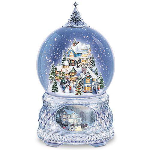 Thomas Kinkade Snowglobe With Crystal Base, Lights, Music...