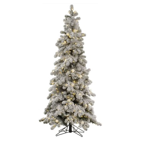 Vickerman Flocked Kodiak Pre-lit Christmas Tree