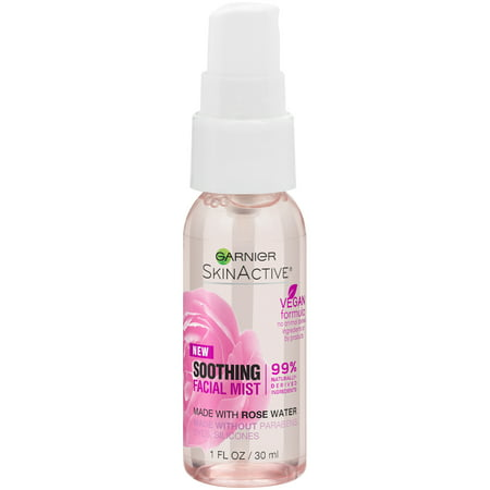 (2 Pack) Garnier SkinActive Facial Mist Spray with Rose Water, 1 fl. - Facial Water