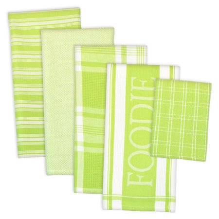 Dishcloth Set (Design Imports Assorted Foodie Dishtowel & Dishcloth Set, Set of 5, DT 28
