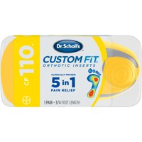 Dr. Scholl's Custom Fit CF110 Orthotic Shoe Inserts for Foot, Knee and Lower Back Relief, 1 Pair