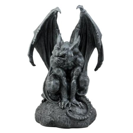 Ebros Gift Large Cathedral Guardian Crouching Winged Gargoyle Statue 12.5