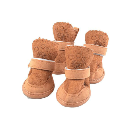 Anyprize Dog Shoes for Small Dogs, Puppy Dog Shoes Paw Protector with Detachable Closure and Anti-Slip Sole for Small and Medium Dogs, PH029C1