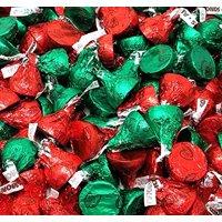 Hershey's Kisses Milk Chocolate with Almonds, Christmas Mix, 4 pounds bag