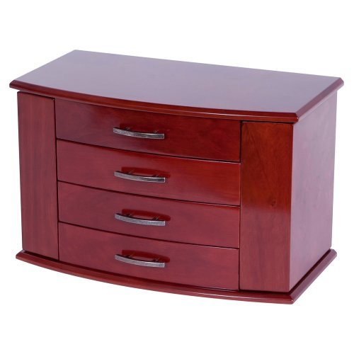 Mele Designs Sutton Upright Jewelry Box, Dark Burlwood Walnut Finish