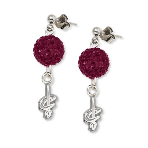 Cleveland Cavaliers S/S CLEVELAND CAVALIERS CRYSTAL OVATION EARRINGS