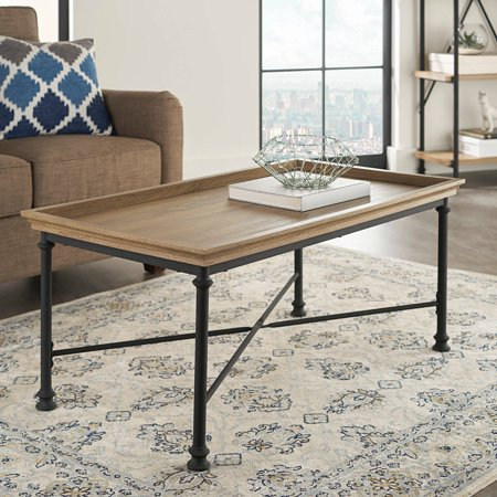 Better Homes and Gardens River Crest Coffee Table, Rustic Oak Finish