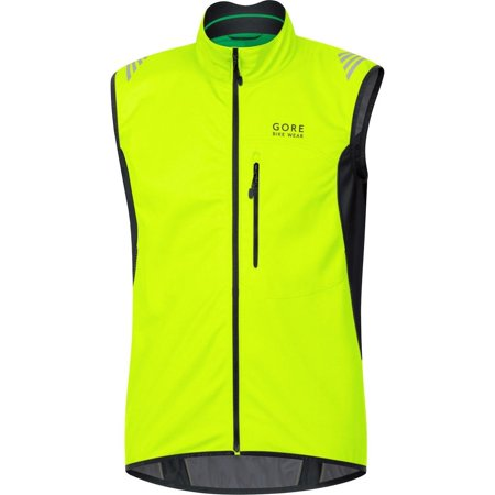 - GORE BIKE WEAR Menâ??s Soft Shell Cycling Vest, GORE WINDSTOPPER,  Vest, Size: XXL, Black, VWELEM Neon Yellow/Black Medium