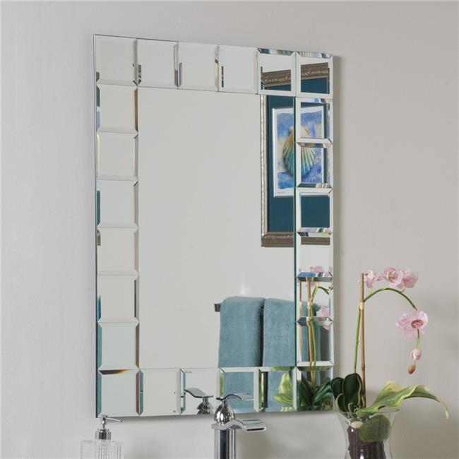 Decor Wonderland SSM414-1C Prince Modern Bathroom Mirror Silver by Decor Wonderland
