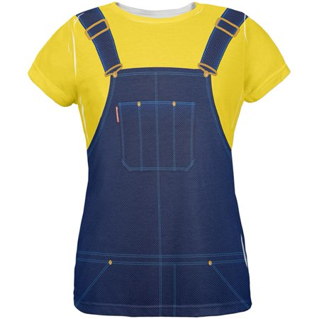 Halloween Overalls Yellow T-Shirt Costume All Over Womens T - Gym Over Halloween
