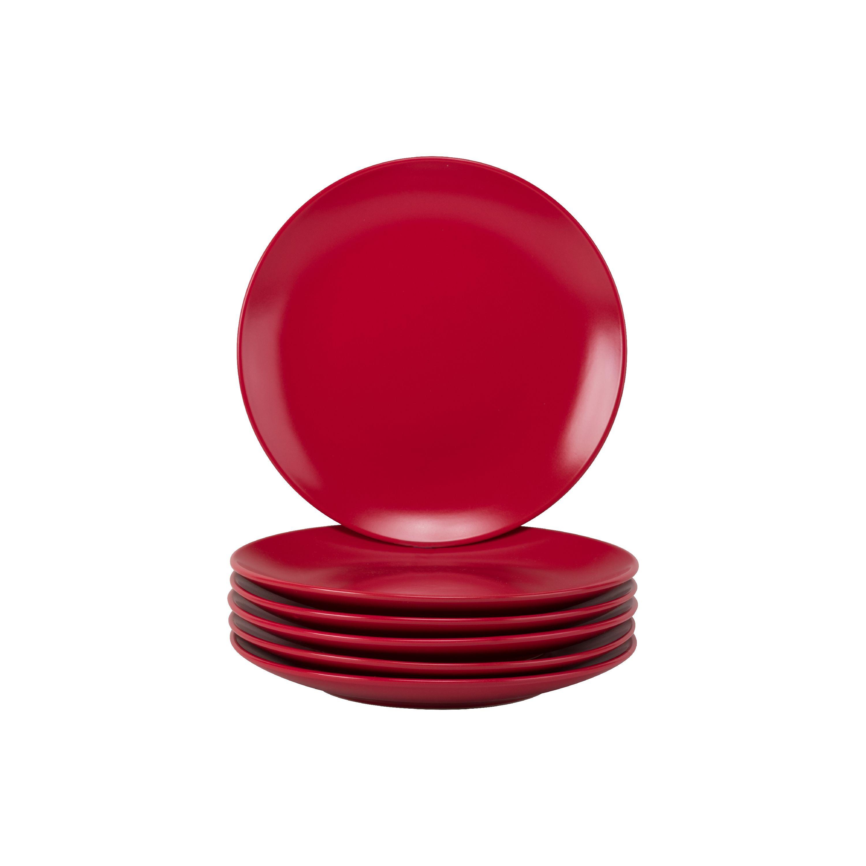 10 Strawberry Street Wazee Matte Gray Set of 4 7.75 Coupe Salad Plate