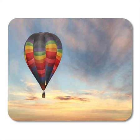 Air Ride Show Pad (SIDONKU Orange Ride Colorful Hot Air Balloon in The Sunrise Sky Sunset Inflatable Fly Mousepad Mouse Pad Mouse Mat 9x10 inch )