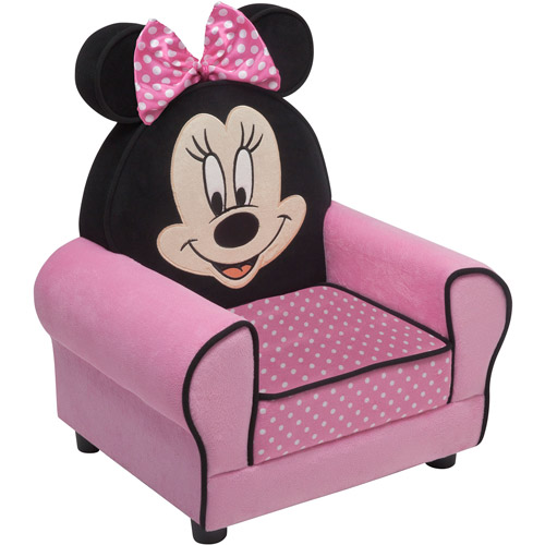 disney minnie mouse figural upholstered chair pink