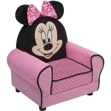Disney Minnie Mouse Figural Upholstered Chair, Pink by