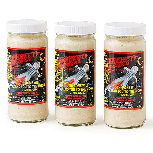 Deli Direct Rocket Radish XXX Hot Horseradish, 8.5 oz, 3 count