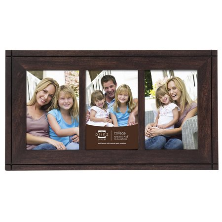 3 Opening Dryden Hinged Wood Frame 4 By 6 Inch Espresso Natural