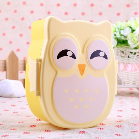 Outgeek 1050ML Owl Lunch Box Bento Food-safe Plastic Food Fruits Picnic Container Portable Box for Kids Boys Girls - Boys Food