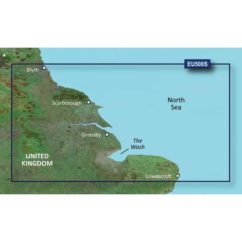 GARMIN VEU500S BLYTH TO LOWESTOFT BLUECHART G2 VISION