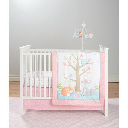 Cuddletime Baby Girl Nursery Bedding Set, 5pc Enchanted Forrest Angel Baby Nursery Bedding