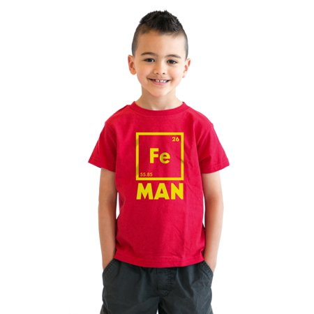 Youth Iron Man Science T shirt Cool Shirts Novelty Kids Funny T shirt Graphic Design (Iron Man Suits For Kids)