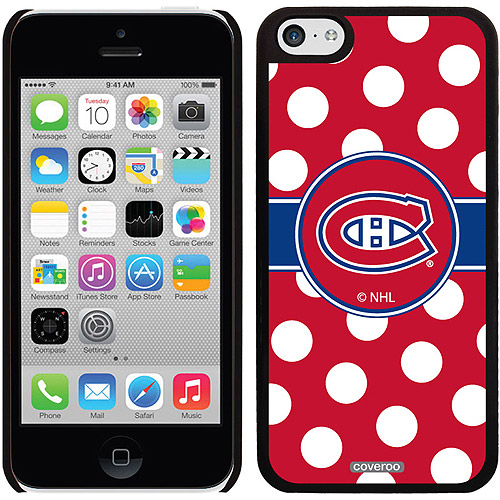 Montreal Canadiens Polka Dots Design on iPhone 5c Thinshield Snap-On Case by Coveroo