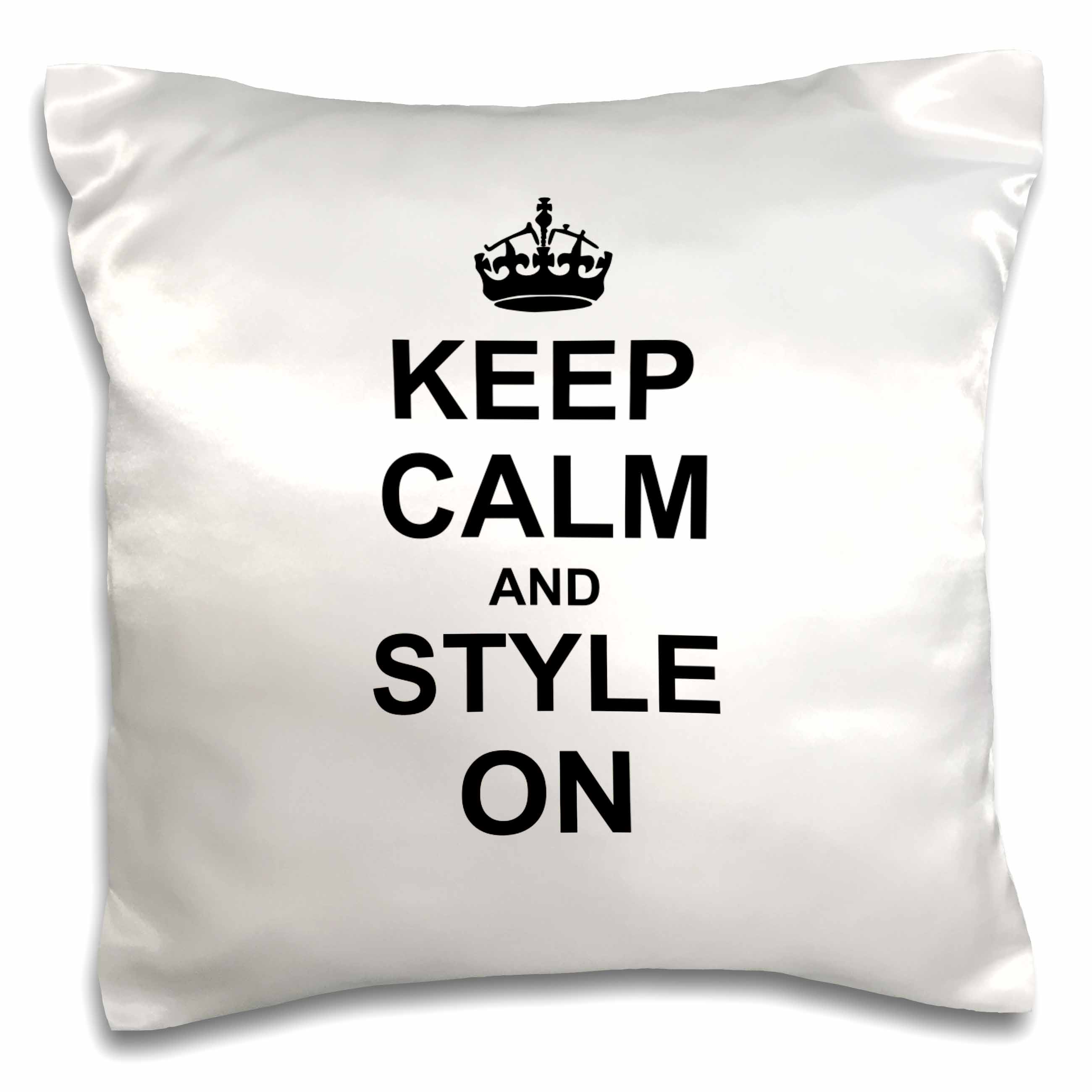 3d Rose 3drose Keep Calm And Style On  -  Carry On Styling  -  Fashion