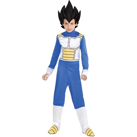 Dragonball Z Costume (Party City Dragon Ball Super Vegeta Costume for Children, Includes Jumpsuit, Headpiece, and Boot)