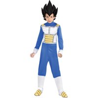 Party City Dragon Ball Super Vegeta Costume for Children, Includes Jumpsuit, Headpiece, and Boot Covers