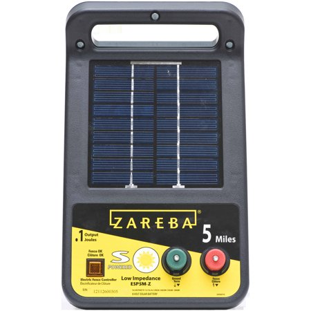 Zareba 5-Mile Solar Low Impedance Electric Fence Charger
