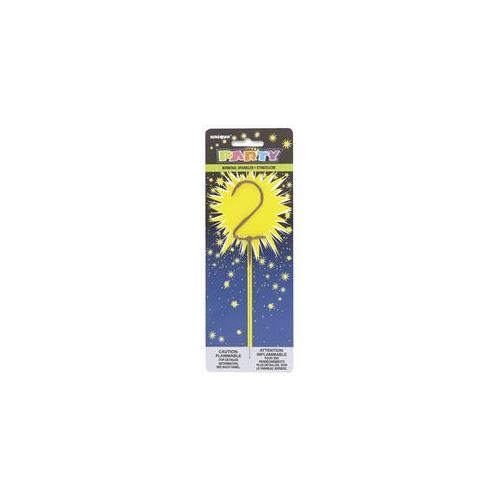 Unique Industries 34102 Numeral 2 Sparkler Pack of 12