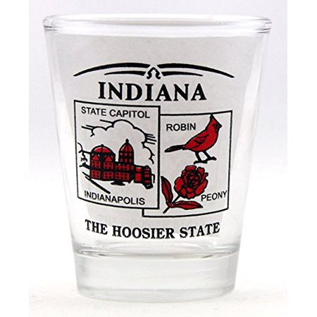 Indiana State Scenery Red New Shot Glass (Red Cup Shot Glasses)