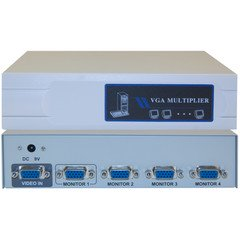VGA Video Splitter, 1 PC to 4 Monitors, 400MHZ VGA Video Splitter, 1 PC to 4 Monitors, 400MHZ