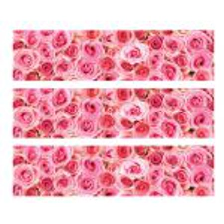 Pink Roses -1/4 (Quarter Sheet) Edible Cake Decorating Strips