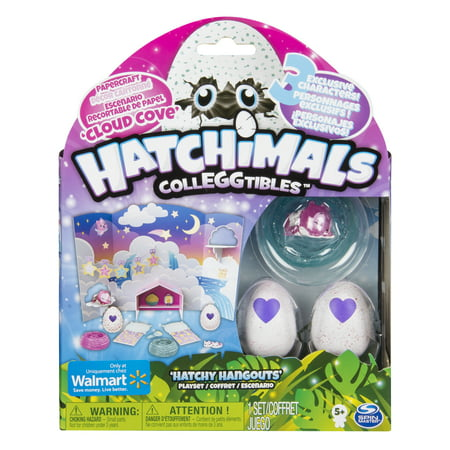 Hatchimals CollEGGtibles, Cloud Cove Hatchy Hangouts Papercraft Playset with 3 Exclusive Characters, for Ages 5 and Up
