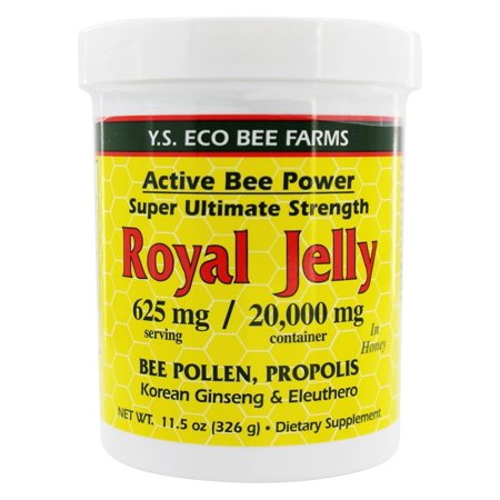 Organic Bee Farms Royal Jelly (YS Organic Bee Farms - Alive Bee Power Royal Jelly Paste 20000 mg. - 11.5 oz. )