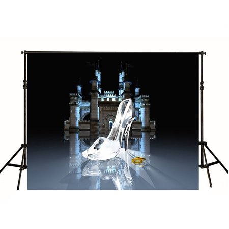 HelloDecor Polyster 7x5ft Castle Backdrops for Photography Glass Slipper Backgrounds Studio for Princess Digital Wedding Photo Backdrop](Wedding Photo Backdrop)