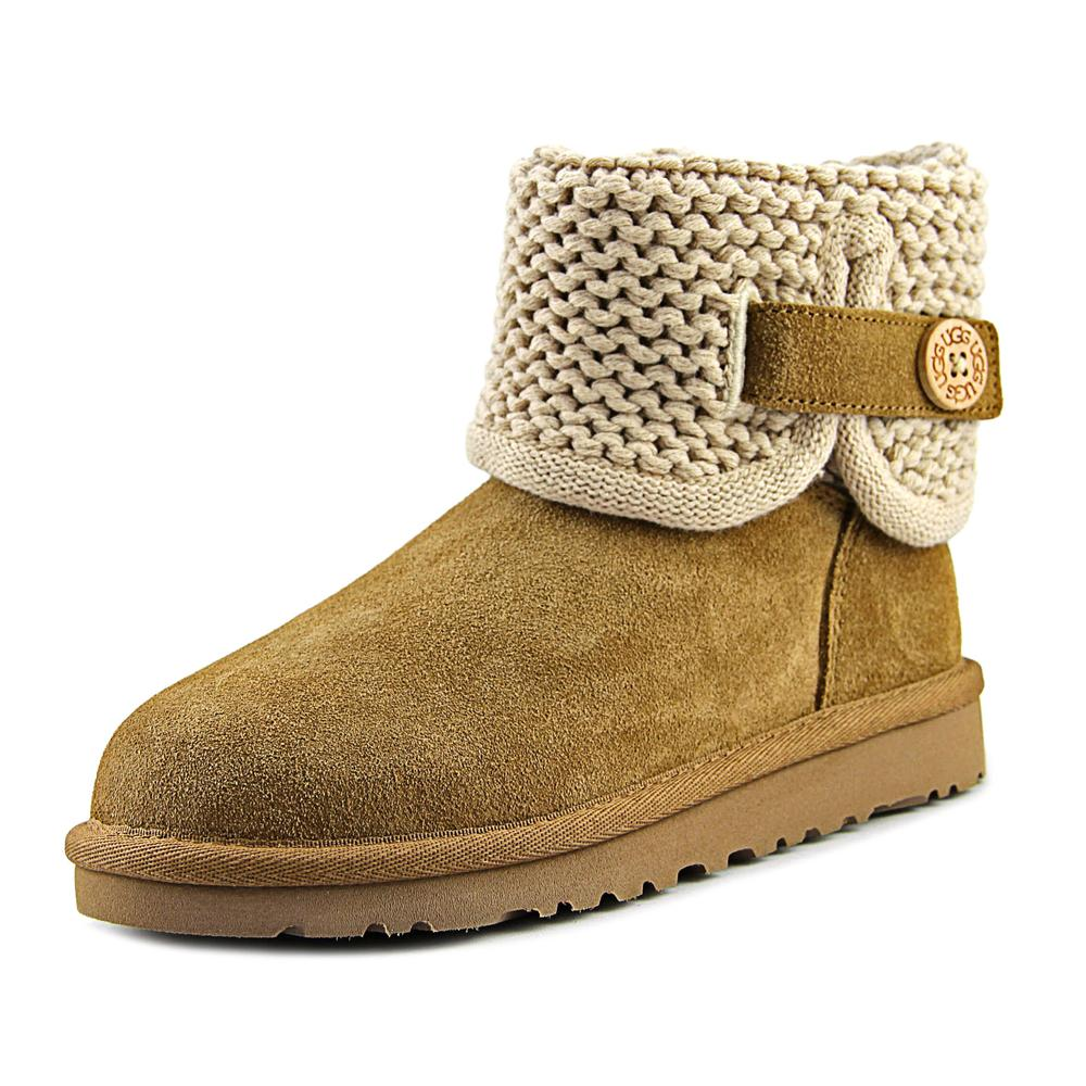 Ugg Australia Darrah Youth  Round Toe Suede Tan Boot