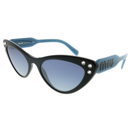 9fe3c11365cd Miu Miu - Miu Miu MU 05TS 1AB3A0 Women Cat-Eye Sunglasses - Walmart.com