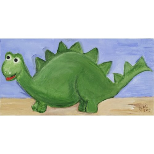 Judith Raye Paintings LLC Stegosaurus by Judith Raye Painting Print