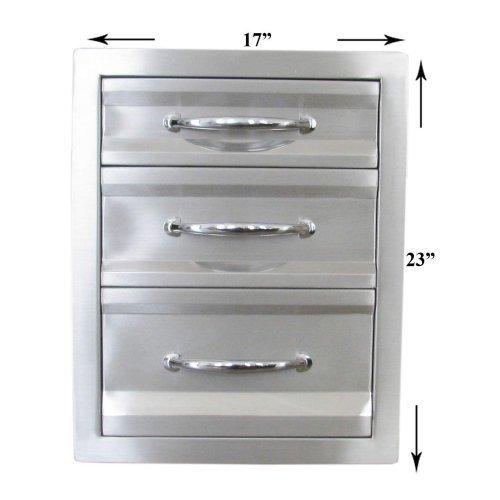 Sunstone Grills 17 In. Premium Triple Access Drawer