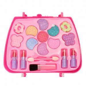 Fancyleo Pretend Makeup Kit for Girls Cosmetic Pretend Play Dress-up Beauty Salon Toy Set with Mirror Best Gift for Kids