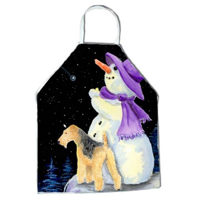 Snowman with Lakeland Terrier Apron - 27 x 31 in. - image 1 of 1