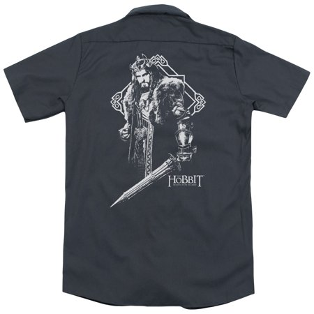 Hobbit King Thorin (Back Print) Mens Work Shirt - The Hobbit Thorin