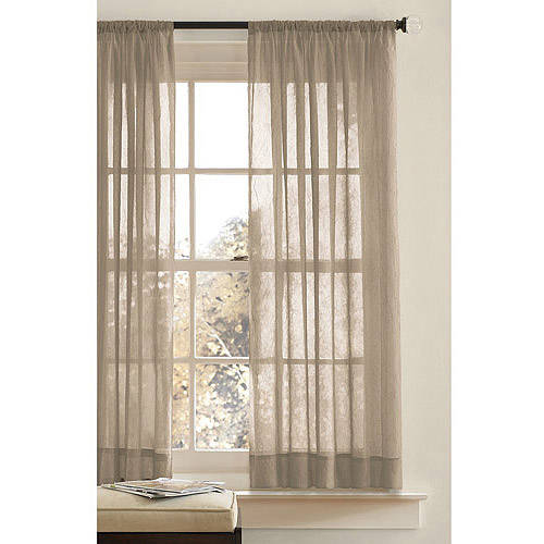 Better Homes And Gardens Canopy Crushed Voile Curtain Panel   Walmart.com