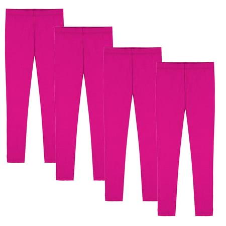 Girls Soft Leggings 4 Pack Kids Winter Warm Stretchy Leggings](Leggings For Girls)