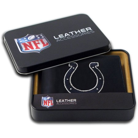 NFL Mens Indianapolis Colts Embroidered Billfold Wallet by
