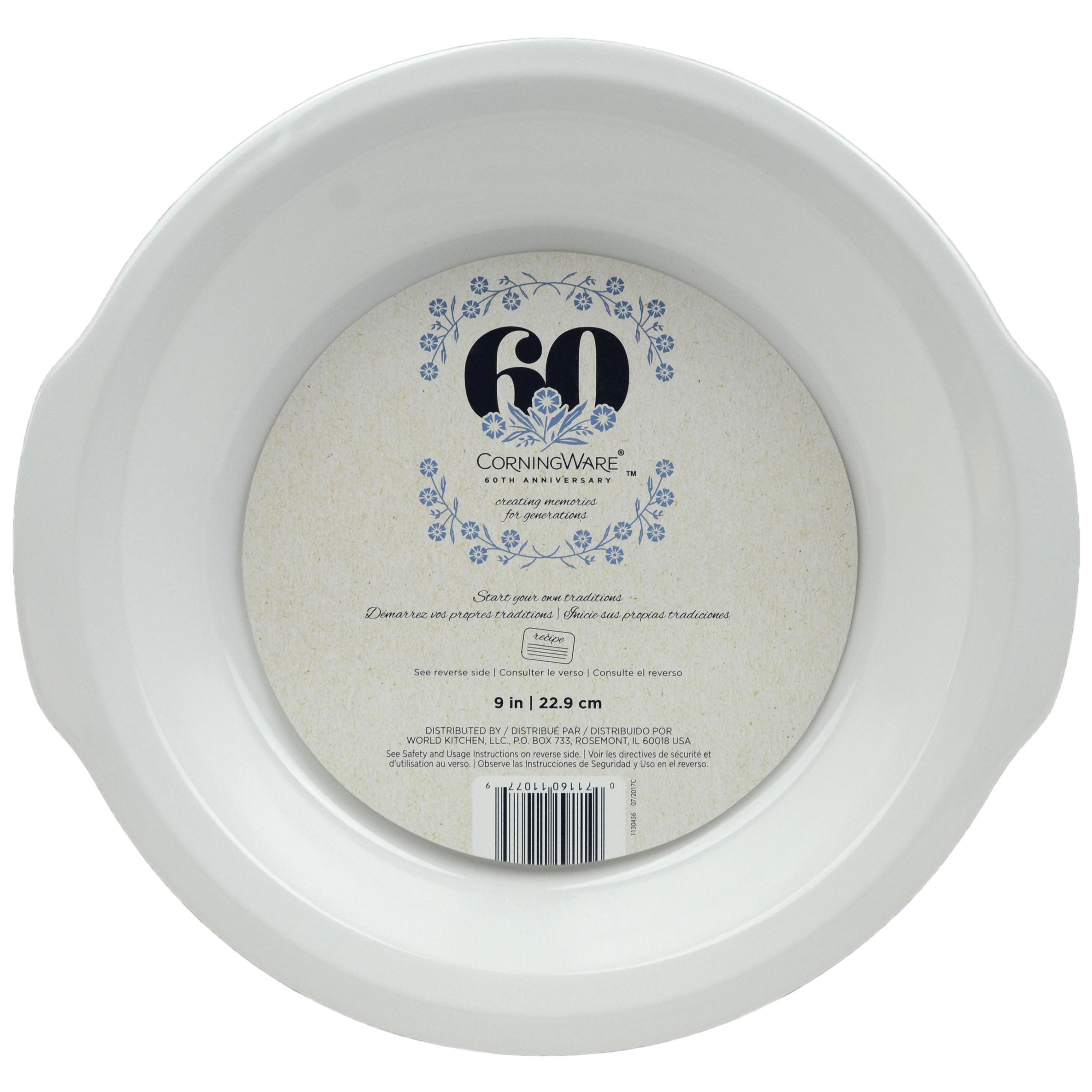 CorningWare 60th Anniversary 9-Inch Pie Plate